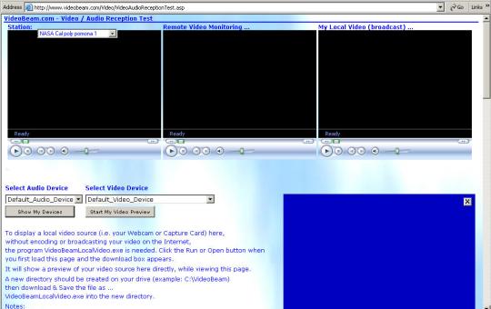 Video Audio Reception Test