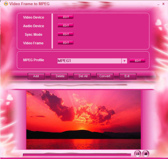 Video Frame to MPEG
