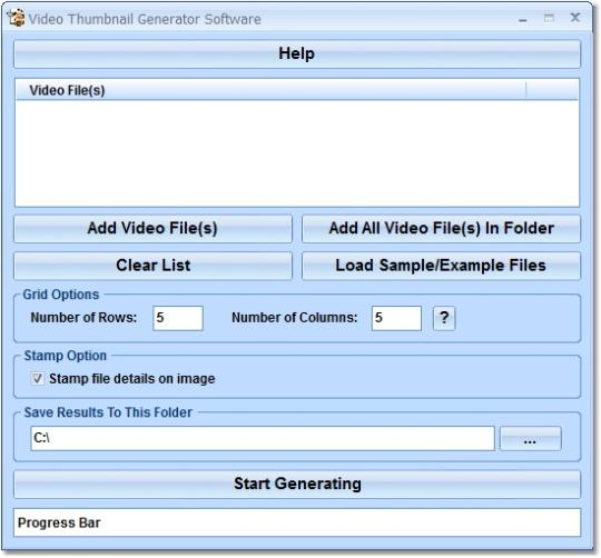 Video Thumbnail Generator Software