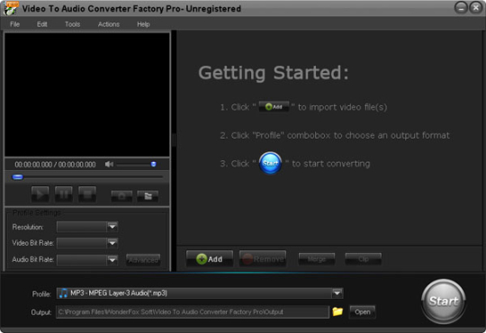 Video to Audio Converter Factory Pro
