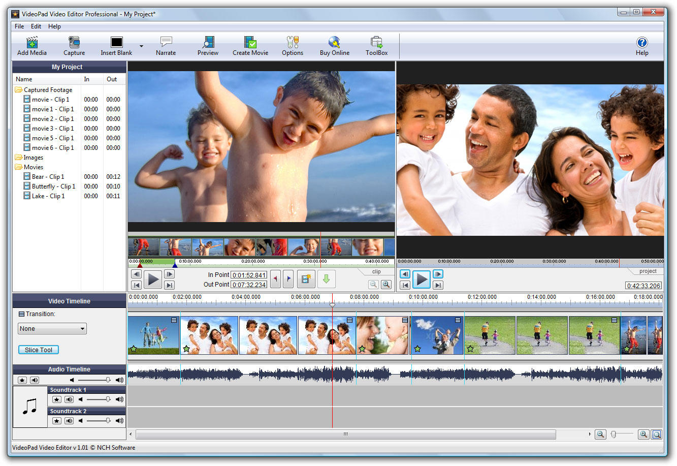 VideoPad Free Video Editor and Movie Maker