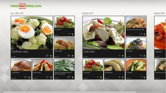 Videorecepies.com for Windows 8