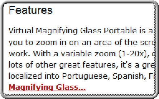 Virtual Magnifying Glass Portable