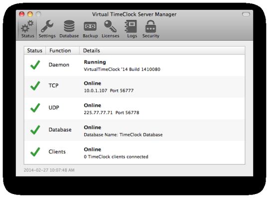 Virtual TimeClock Server