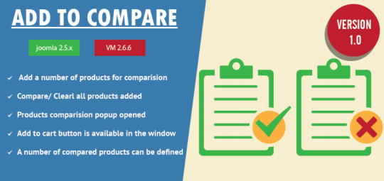 Virtuemart Product Compare Extension