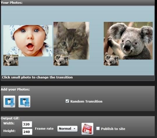 Viscomsoft Free Online GIF Slideshow