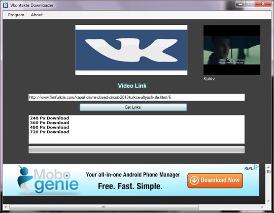 تحميل مجاني Vkontakte(VK) Downloader إلى Windows 7 ::: البرمجيات