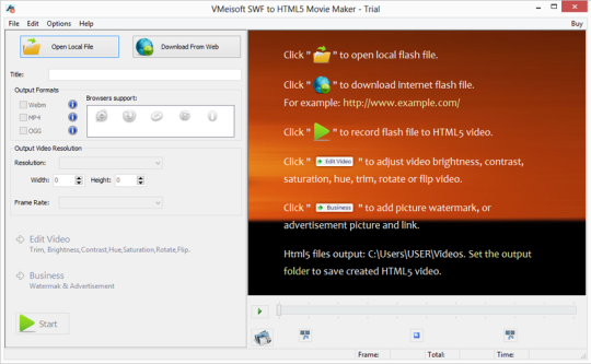 VMeisoft SWF To HTML5 Movie Maker