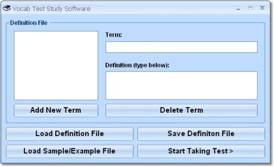 Vocab Test Study Software