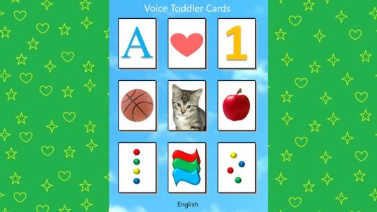 Voice Toddler Cards for Windows 8