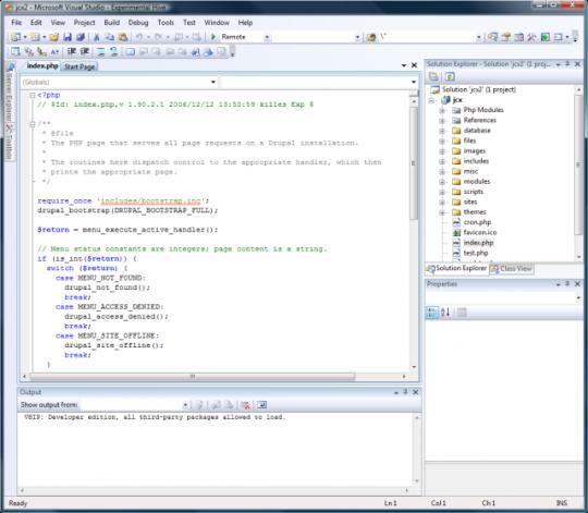 VS.Php for Visual Studio 2005