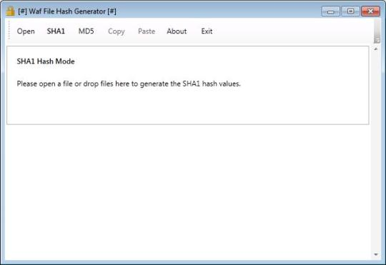 Waf File Hash Generator Portable