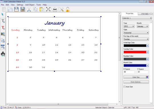 Wall Calendar Maker