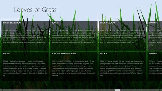 Walt Whitman's Leaves of Grass for Windows 8