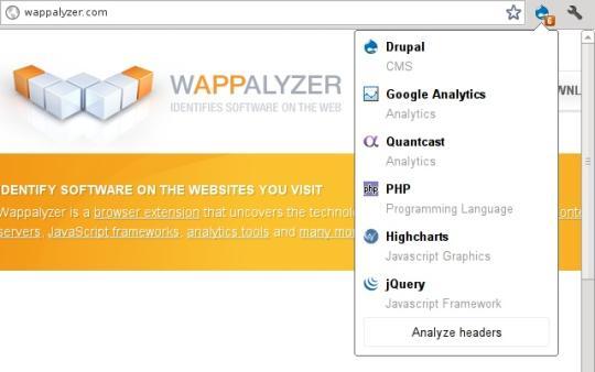 Wappalyzer for Chrome