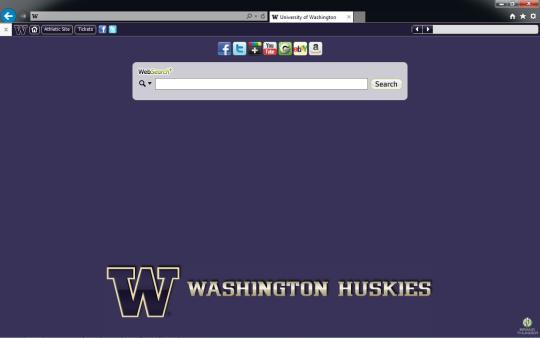 Washington Huskies Theme for Internet Explorer