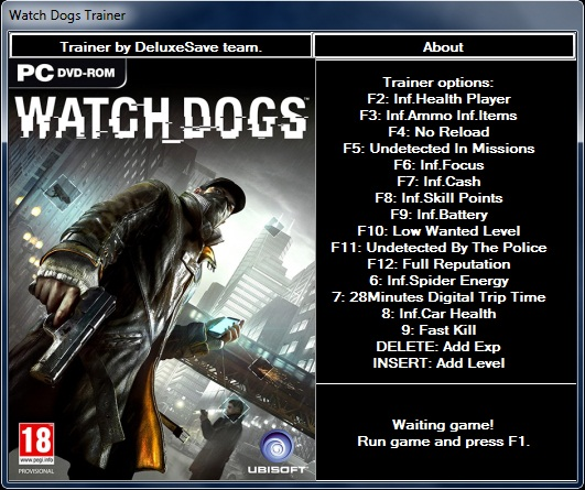 Watch Dogs Ultimate Trainer