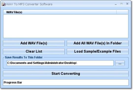 WAV To MP3 Converter Software