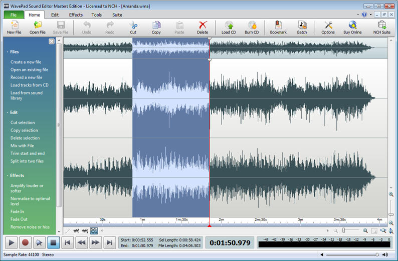 WavePad Free Audio and Music Editor