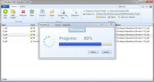 We Batch PDF Unlocker