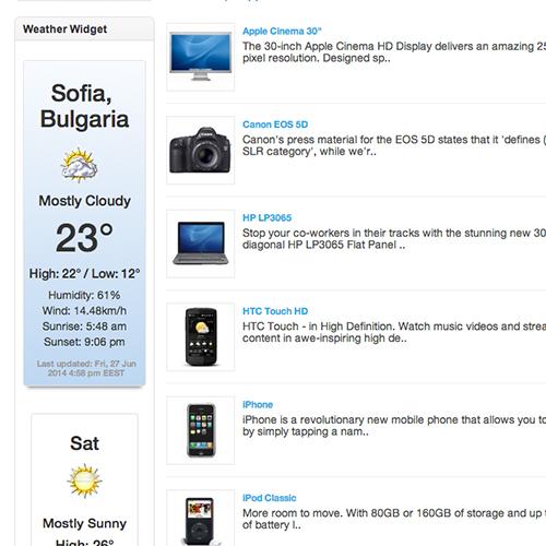 WeatherWidget for OpenCart
