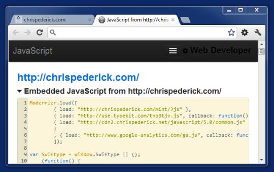 Web Developer for Chrome