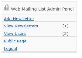 Web Mailing List