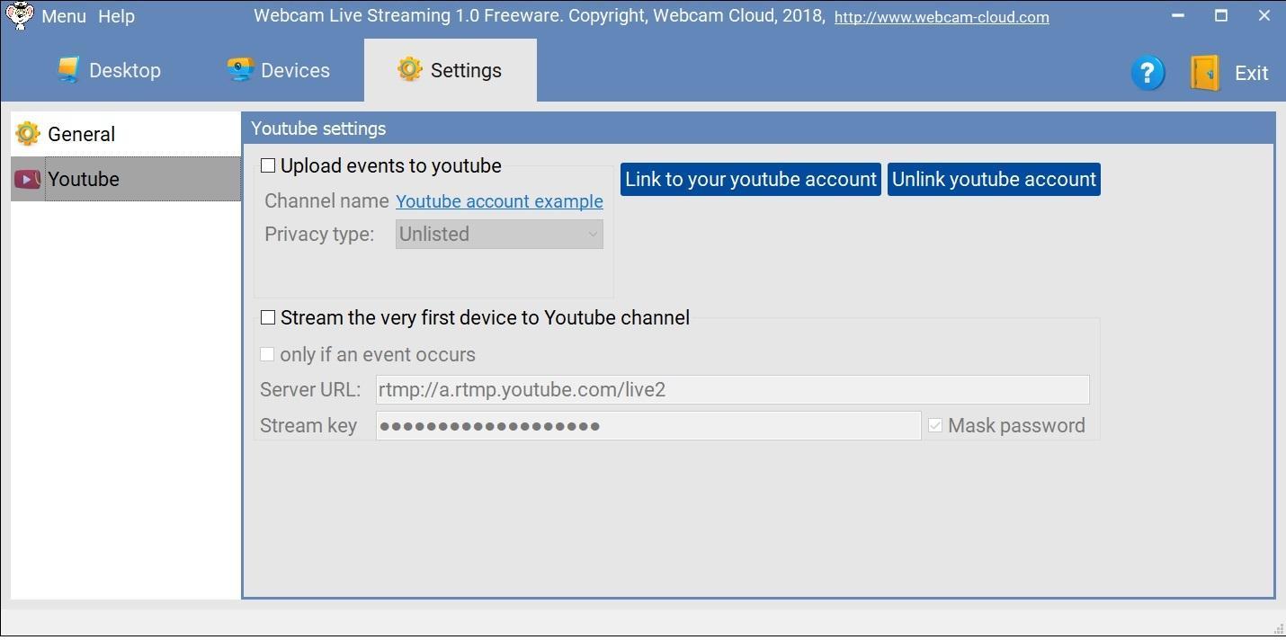 Webcam Live Streaming