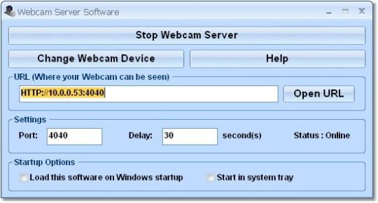 Webcam Server Software