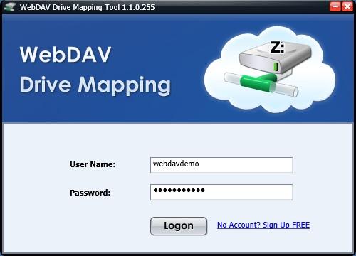 WebDAV Drive Mapping Tool