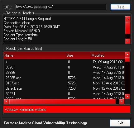 WebDAV Vulnerability Tester