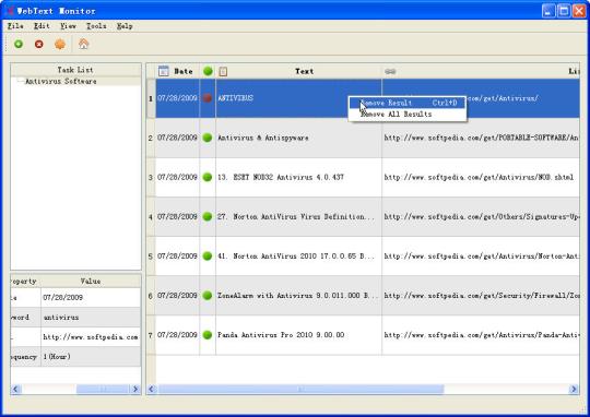 WebText Monitor