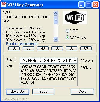 WiFi Key Generator