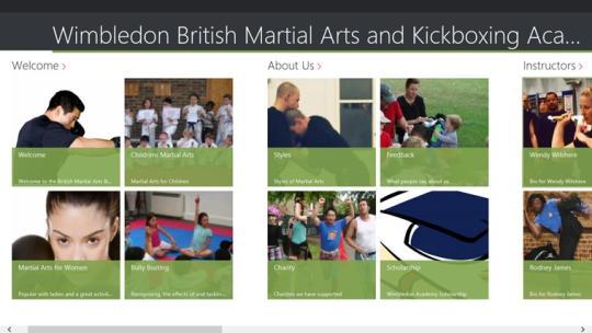 Wimbledon British Martial Arts and Kickboxing Academy for Windows 8