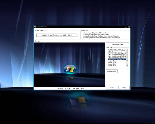 Win 7 Startup Screen Manager