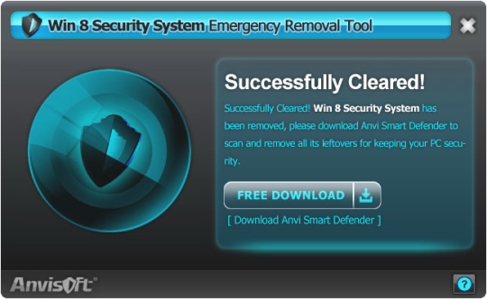 Win 8 Security System Removal Tool