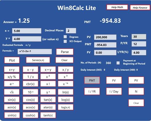 Win8Calc Lite for Windows 8