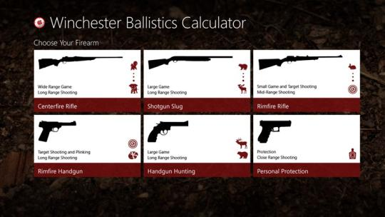 Winchester Ballistics Calculator for Windows 8