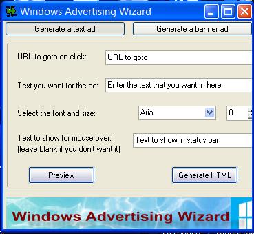 Windows Advertising Wizard