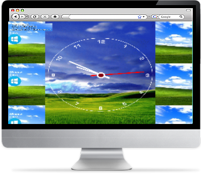 Windows Clock Screensaver