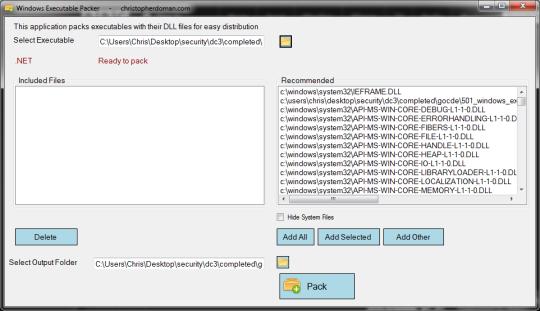 Windows Executable Packer