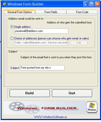 Windows Form Builder