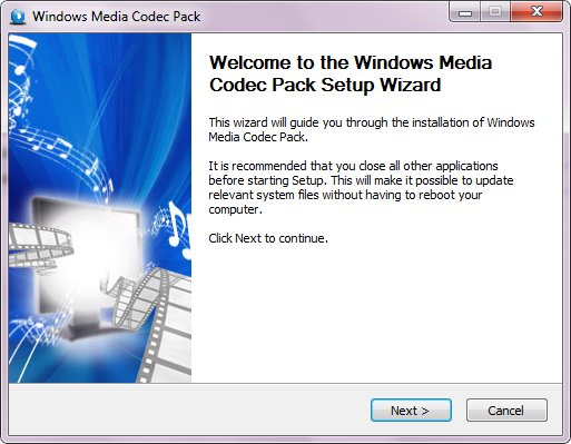 Windows Media Codec Pack