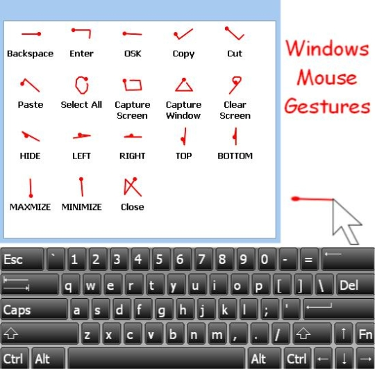 Windows Mouse Gestures