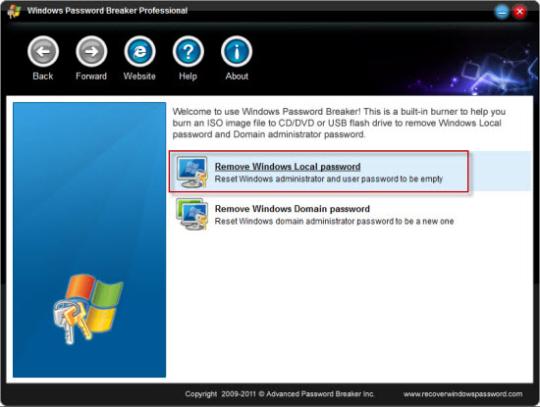 Windows Password Breaker Professional