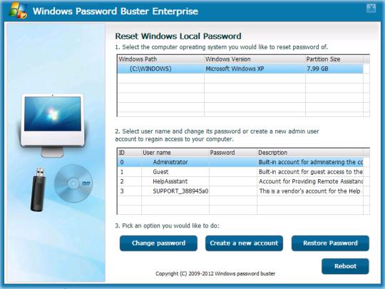 Windows Password Buster Enterprise