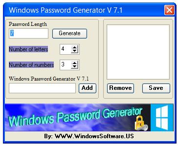 Windows Password Generator