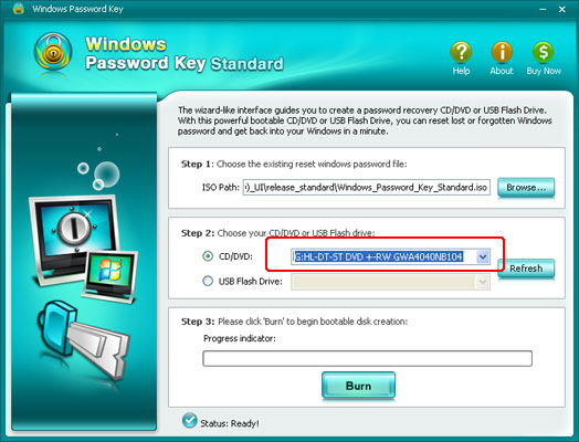 Windows Password Key Standard
