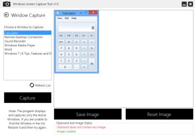 Windows Screen Capture Tool
