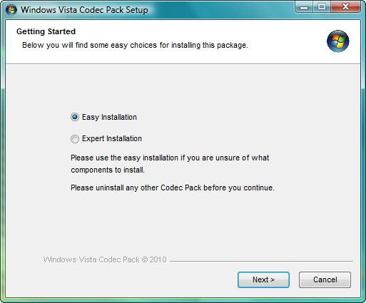 Windows Vista Codec Pack